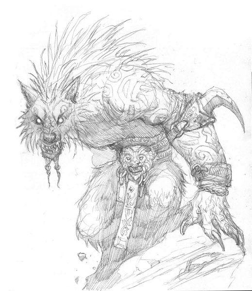 Bocetos de Prescott para Hombre lobo el Apocalipsis (20 ...