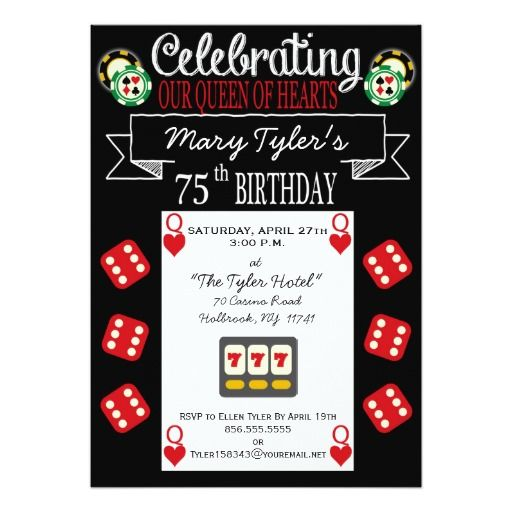 402 best Heart Birthday Party Invitations images – 75th Birthday Party Invitations