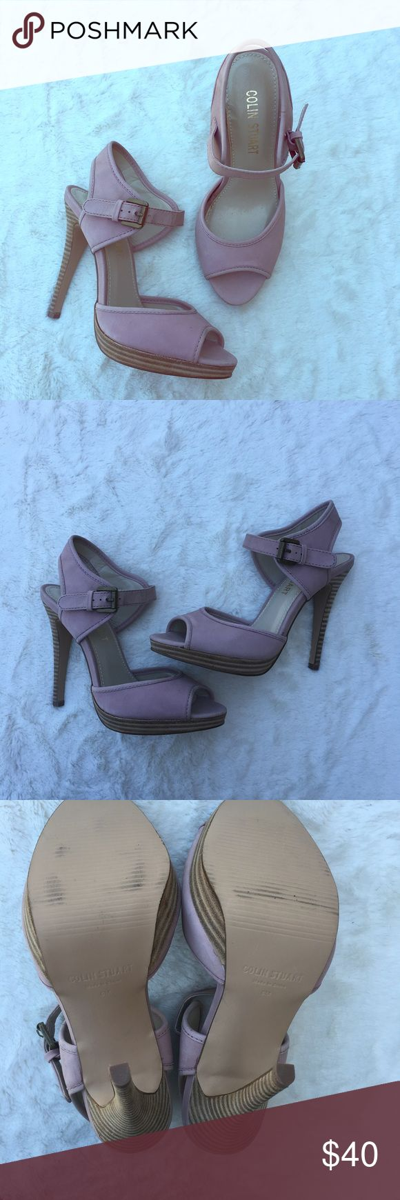 Colin Stuart light pink heels Colin Stuart light pink upper leather heels. Open toe, buckle around ankle. Like new! In great condition! Feel free to ask questions or make an offer 💕 Colin Stuart Shoes Heels