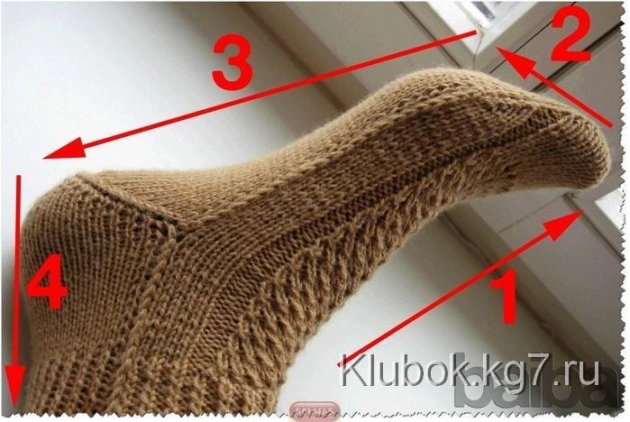 Носки на двух спицах | Клубок
