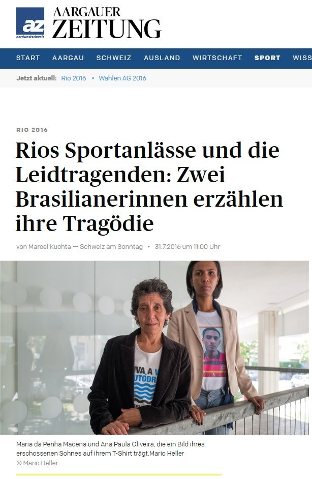 Aargauer Zeitung (Germany). Coverage of UN side event.