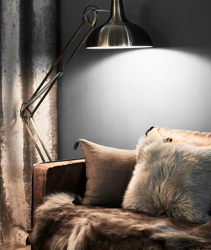 Wirkt Aber Auch Als Individuelle Tischleuchte Und Wird Daher Zum Stylischen  Eyecatcher Im Wohnzimmer! // Lampe Stehlampe Leuchte Stehleuchte  Lampenschirm ...