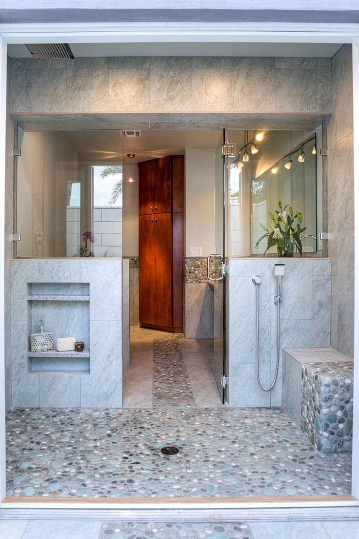 At home with stunning bath and walk in closet modern bathroom - 2015 Nkba People S Pick Best Bathroom
