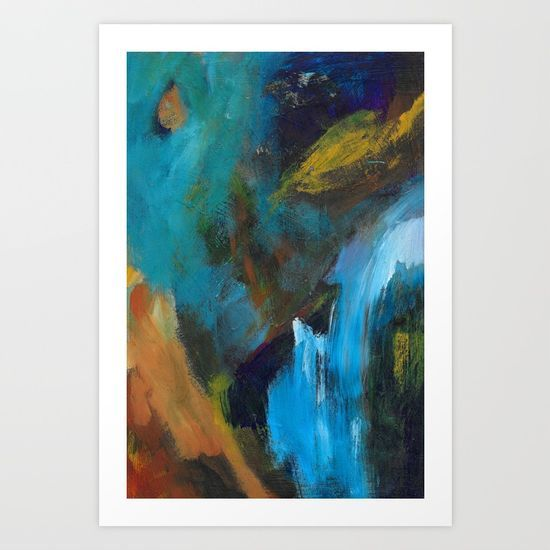 """""""Waves"""" abstract art by Leanne Simpson. This artwork is available at Society6 as an art print, phone case, tote bag and more! https://society6.com/leannesimpsonart"""