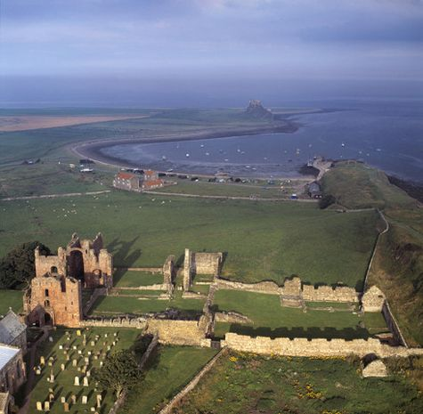 Lindisfarne today. The Viking raid on the Christian monastery at Lindisfarne in AD 793 shocked and frightened people in England.