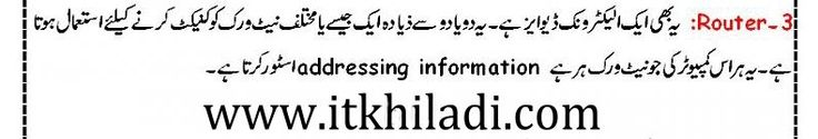 router in urdu