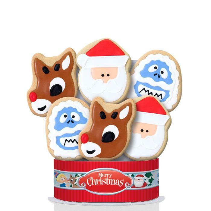 Rudolph the Red-Nosed Reindeer© Merry Christmas 6 Cookie Bouquet