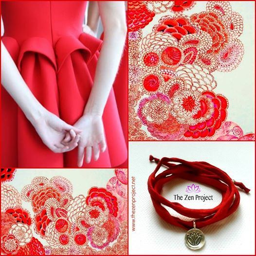 Fingers crossed for a great week ahead!  Featured below: *Japanese Pattern & The Zen Project Silk Bracelet Nr. AW001A Intense Lotus