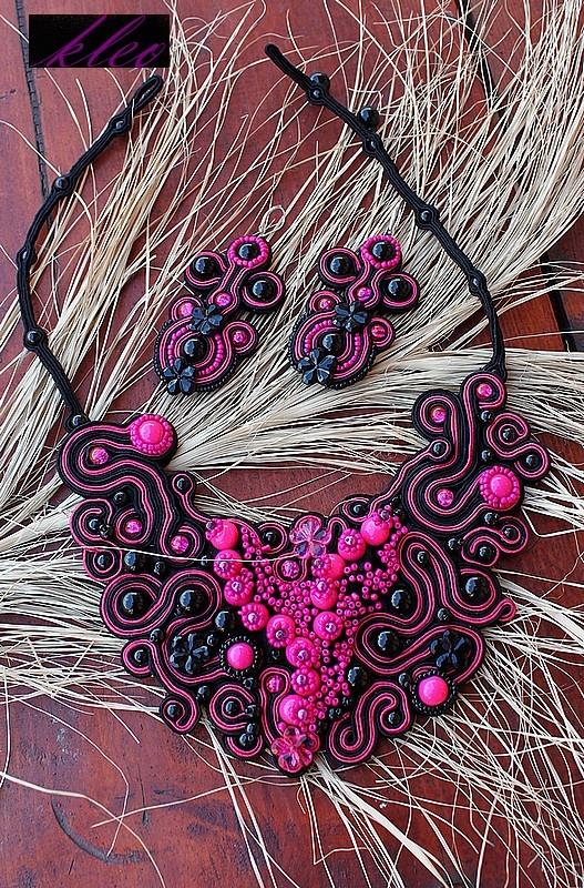 Sutasz Kleo /Soutache jewellery: Sutasz/komplet Isztar