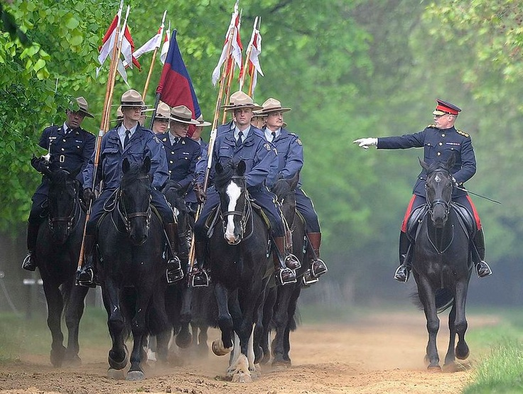 The RCMP have been invited by the Queen to act as her personal bodyguards in the run up to the Jubilee. They're preparing for the Changing of the Queen's Guard ceremony on May 23 and 25, when they will ride alongside the Household Cavalry. (Reuters)