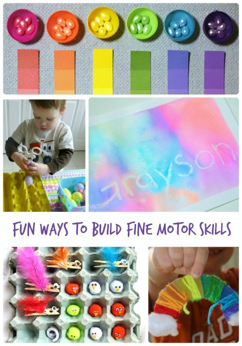Fun crafts and activities that help preschoolers and older kids to build their fine motor skills.