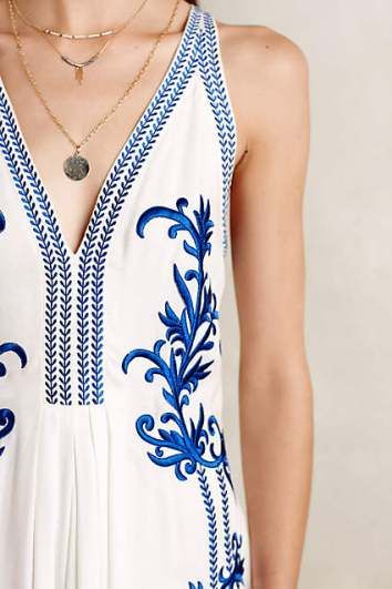 Aska Embroidered Maxi Dress by Ranna Gill