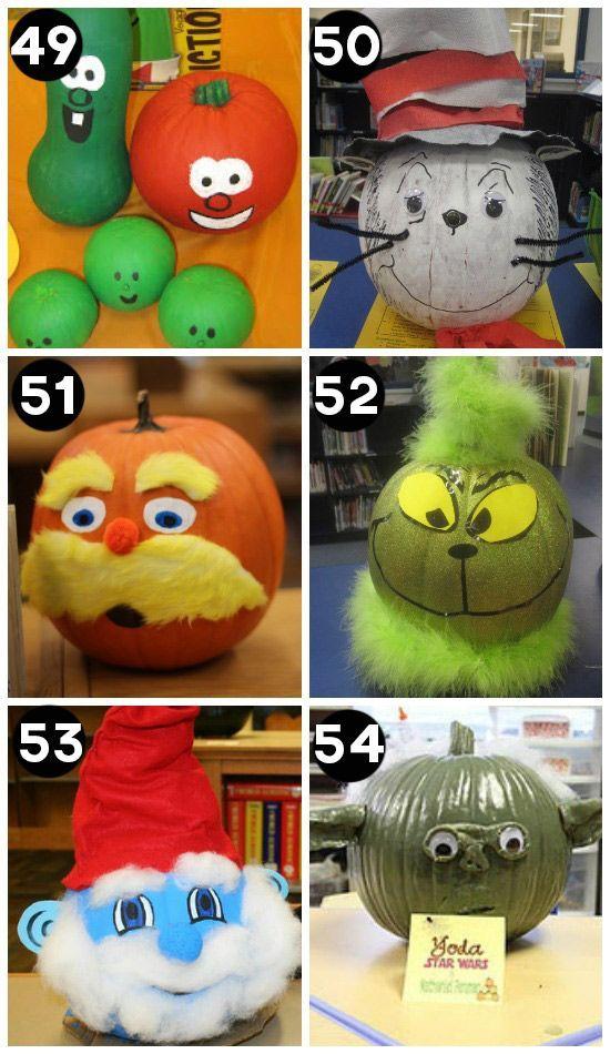 150 Pumpkin Decorating Ideas - Fun Pumpkin Designs for Halloween - halloween pumpkin painting ideas