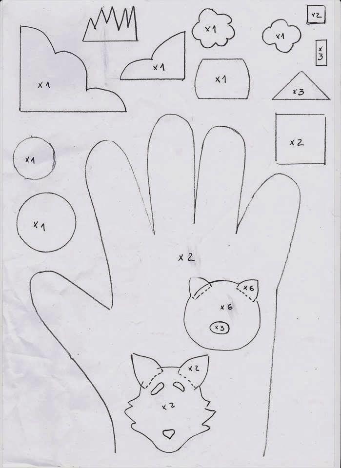 Dedoches | Luva dos três porquinhos ~ Arte De Fazer | Decoração e Artesanato