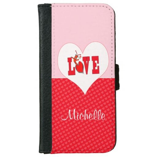 Cute Crawfish Lobster Love Heart Wallet Phone Case For iPhone 6/6s | Pinterest