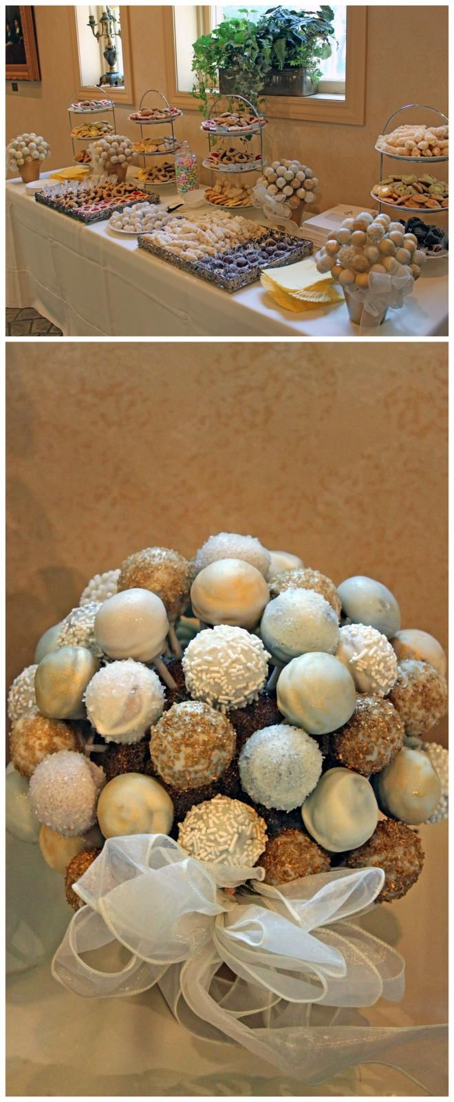 cake pops on a dessert bar