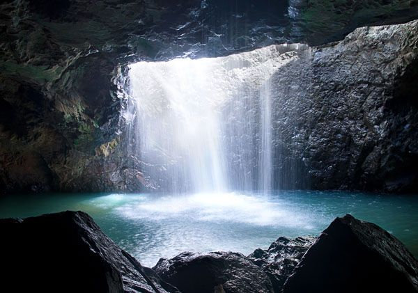 Natural Bridge at the Lamington National Park in South East Queensland Australia. This was my favorite place to swim when the weather was too hot to stay home.