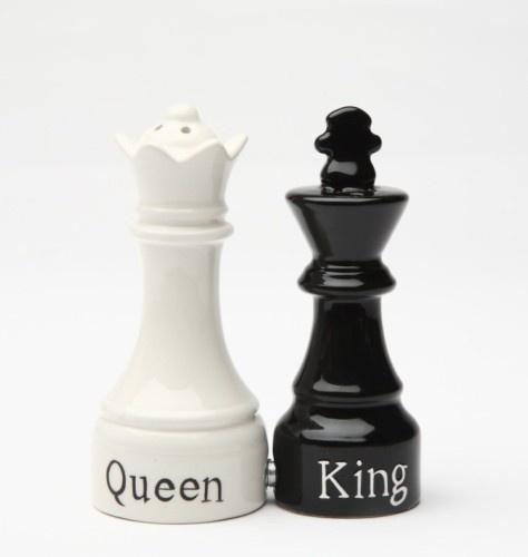 QUEEN & KING CHESS MAGNETIC SALT PEPPER SHAKERS CUTE | eBay