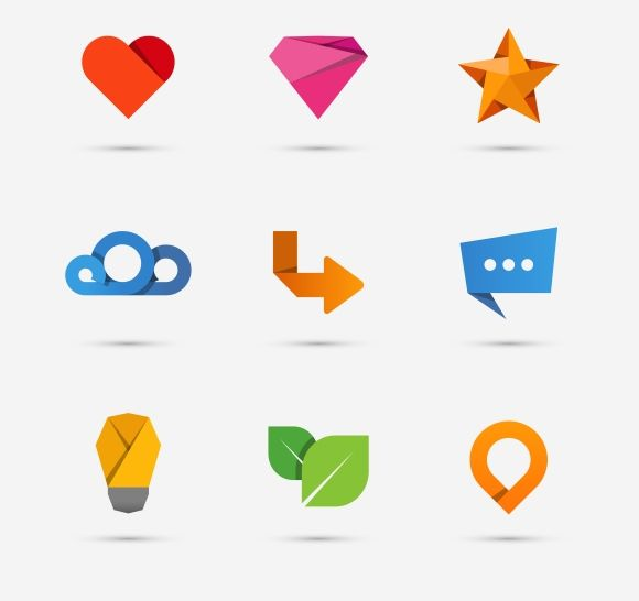 Modern flat paper icons by Microvector on @creativemarket