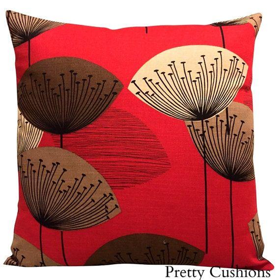 Sanderson Dandelion Clocks Red Cushion Cover