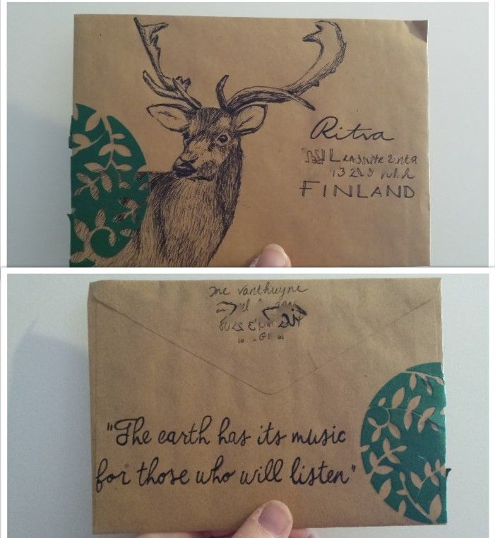 envelope - Deer in the forest by inow. http://ineffable-inow.blogspot.be