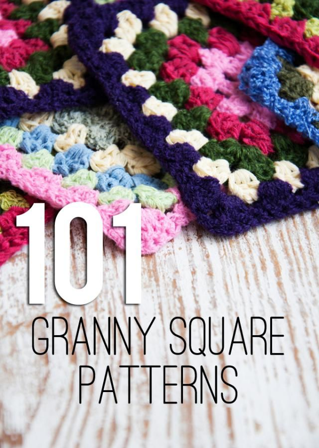 101 FREE Granny Square Crochet Patterns                              …