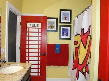 Superhero Bathroom - Love this idea