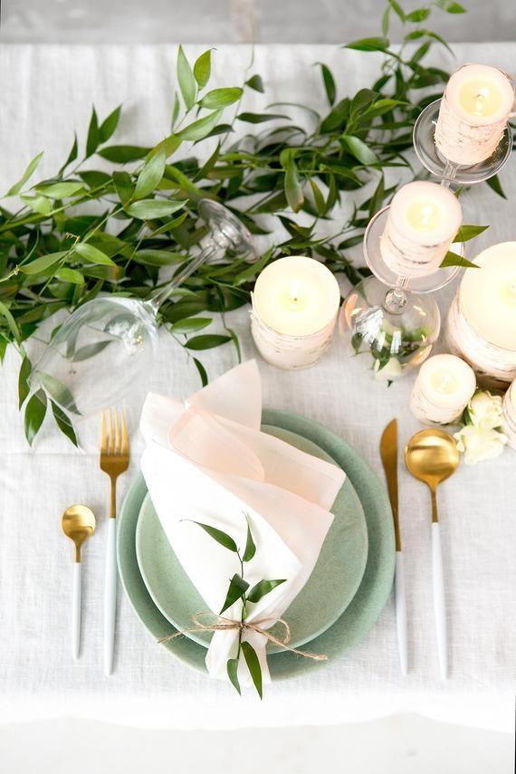 Massenservietten für die Hochzeit aus reinem Leinen, diese Servietten sind wunderschön …   – Tischdeko