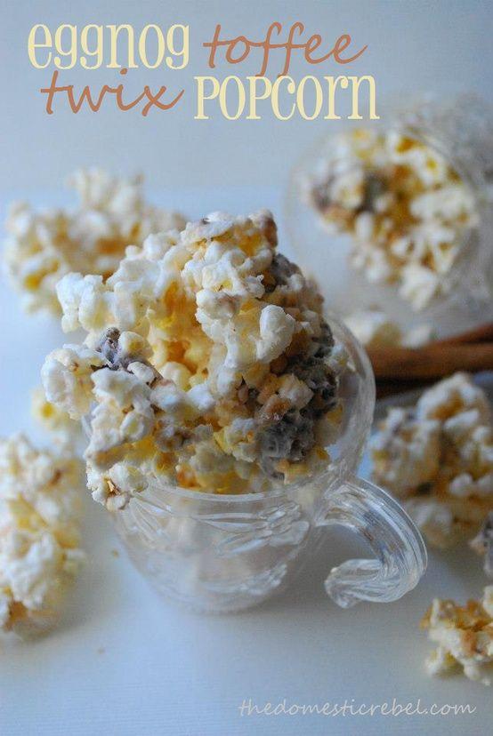 Eggnog Toffee Twix Popcorn