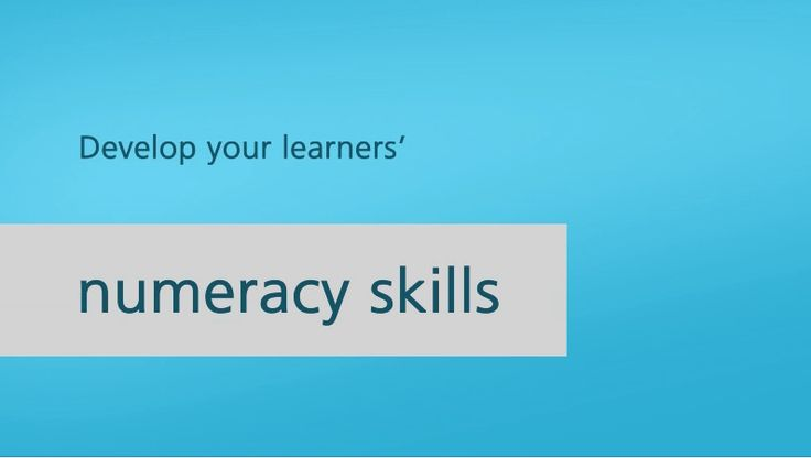 Develop your learners' numeracy skills