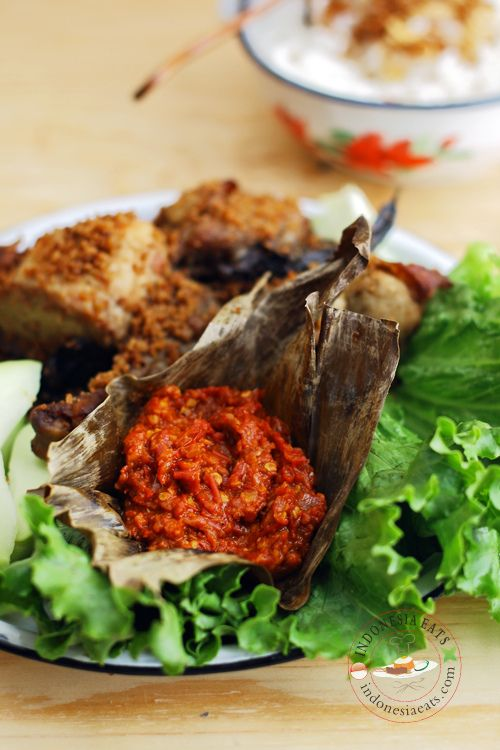 Sambal Bajak/Badjak (Javanese Sambal).  A popular sambal among Indonesian and Dutch to company fried chickens
