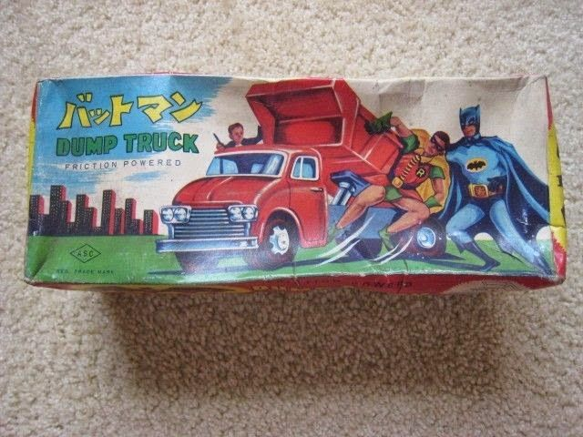 #ridiculouslycool Batman tipper truck toy from Japan