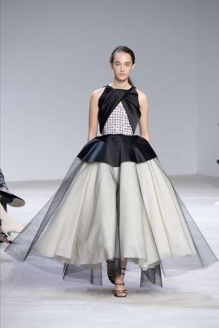 Vestiti da sposa Haute Couture Primavera-Estate 2016 - Vestito bicolor Giambattista Valli