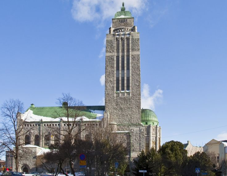 """The grey granite Kallio church from 1912 is one of the most prominent landmarks of Helsinki. It is located in the Kallio district, at the end of Helsinki""""s longest straight street axis. Architect, Lars Sonck, is said to have taken the shape of the church from the dimensions of the Solomon's Temple, described in the Old Testament. The interior dimensions, on the other hand, are reminiscent of the Temple in Jerusalem."""