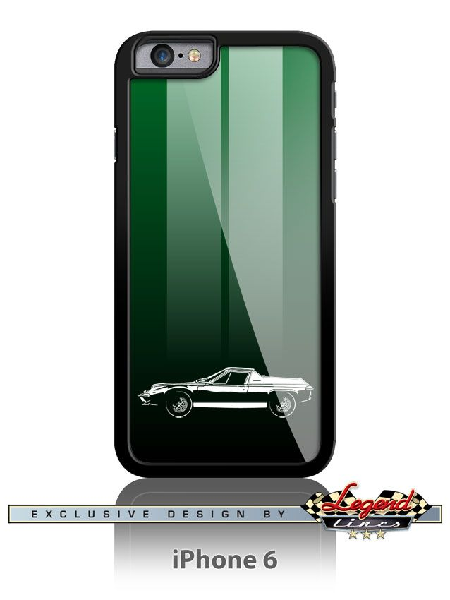 Lotus Europa Twin Cam - Smartphone Case Racing Stripes - Show off your passion with this durable and stylish case for iPhone or Samsung Galaxy. The impact resistant case protects the back and sides, and provides full access to all functions without removing the case. A game of subtle lights and shadows reveal the magnificent curves of the body of this Legendary British automobile: The Lotus Europa Twin Cam one of the most influential vehicle of the 20th century