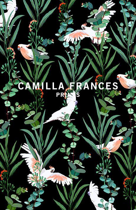 { tropical print } _ Camilla Frances prints