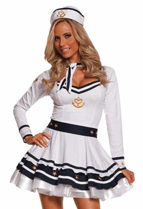 Sexy Sailor Costume - Anchors Away