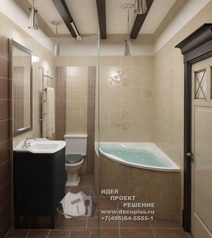 Фото ванной в квартире  http://www.decoplus.ru/portfolio