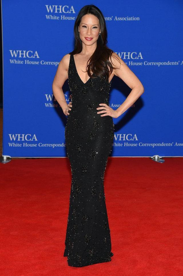 Naeem Khan Celebrity Dresses Red Carpet 2016 For Women Lucy Liu Crystal Beading…
