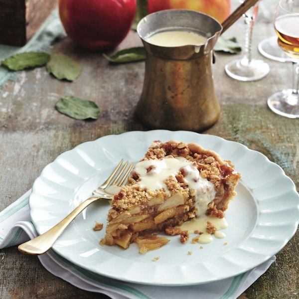 This warm apple crumble recipe is half-pie, half-crumble and all delicious. Get this recipe and more at Chatelaine.com.