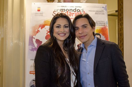 """Press conference of Un Mondo di Solidarietà a humanitarian event conceived by Maria Grazia Cucinotta and Diego Di Flora, where a parade of artists come together to raise funds for the implementation of the humanitarian project """"La Casa di Matteo"""".  the event will be submit by actress and showgirl Maria Mazza. At conference were: Alessandra Clemente, Councillor for Youth Policy, Luca Trapanese president of Association  A Ruota Libera Onlus, Francesco Mastandrea director."""
