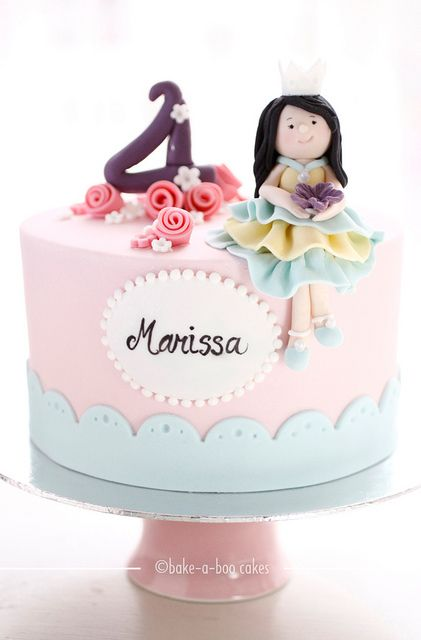 Tartas de cumpleaños - Birthday Cake - Princess theme cake by Bake-a-boo Cakes NZ, via Flickr