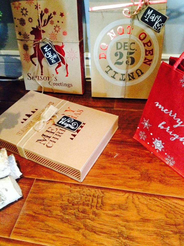 Dollar Tree Rustic Gift Boxes