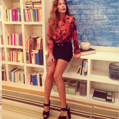 Stunning Katerina Papoutsaki in bold #MIGATO OD214 block heels!  Shop link ► bit.ly/OD214-L14en
