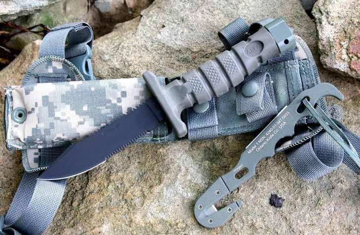 Штатный нож для выживания пилотов ВВС США ASEK