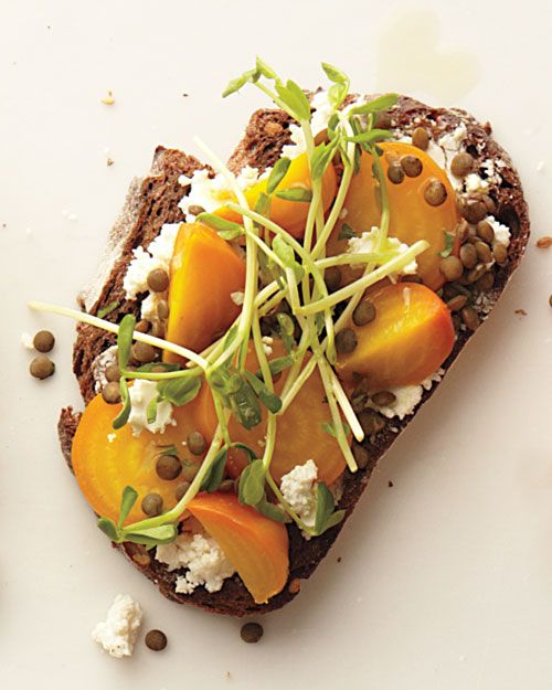Roasted Beets and Lentils Sandwich - Whole Living Eat Well ...