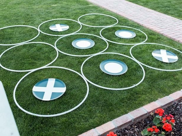 Add big-time fun to your next outdoor get-together with this oversized tic-tac-toe game you can craft with your kids.