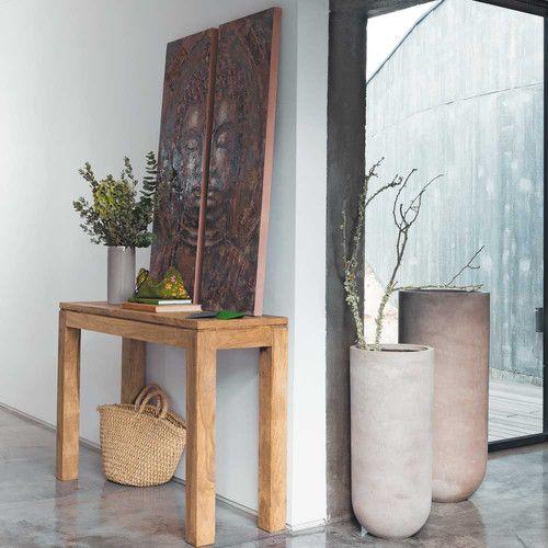 Table console en bois de sheesham massif L 120 cm