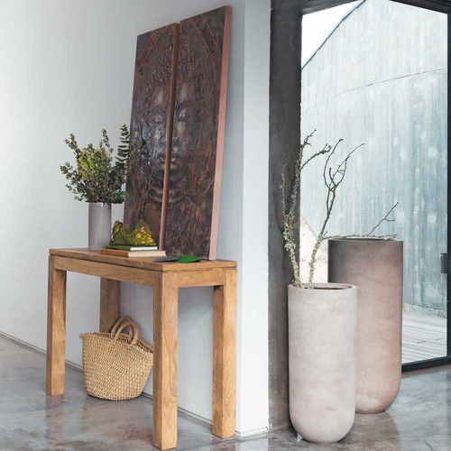 Table console en bois de sheesham massif L 120 cm