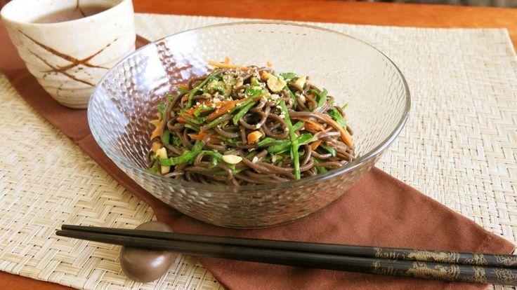 Soba Noodle Salad. Mischaさんの日本の家庭料理♡英語レシピ. そばと野菜でヘルシーにいただく!〜ソバサラダ〜